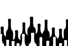 Vector Silhouette Of Bottle Of...
