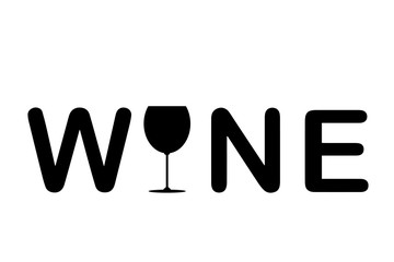 Panel Szklany Wino Vector silhouette banner wine.