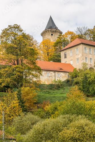 castle Rozmberk in Czech Republic in fall Poster