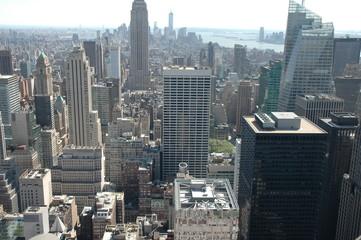 Wundervoller Weitblick. Auf das Häusermeer von Manhattan. Vom Rockefeller Center.