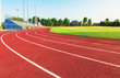 canvas print picture - Running track in a sports stadium