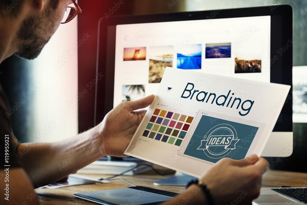 Fototapety, obrazy: Branding Ideas Design Identitiy Marketing Concept