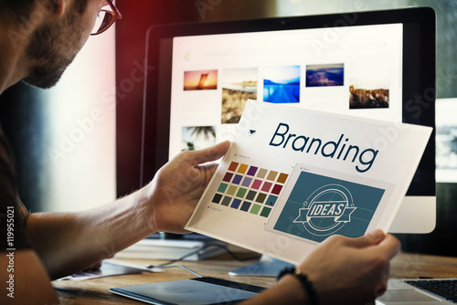 Obraz Branding Ideas Design Identitiy Marketing Concept - fototapety do salonu