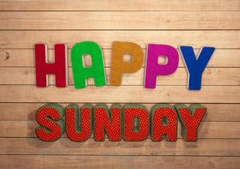 Happy Sunday, 3D, Typography