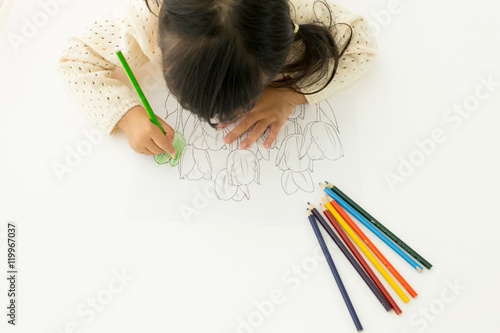 Fotografia  お絵描きをする子供