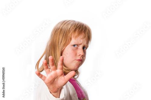 Valokuva  Stopp! - Mädchen mit Handzeichen