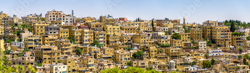 Panorama of Amman, Jordan Canvas Print