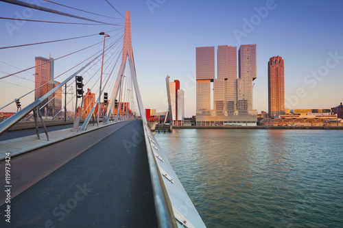 Foto op Canvas Rotterdam Rotterdam. Image of Rotterdam, Netherlands during sunset golden hour.