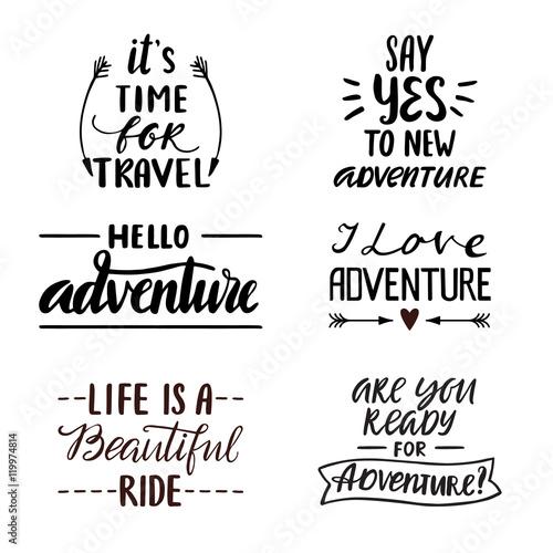 Photo  Adventur lettering collection