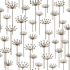 FototapetaSeamless pattern with stylized flowers