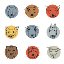 Dog Logo Collection. Handdrawn...