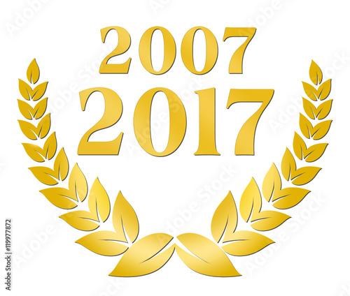 Valokuva  zehnjähriges Jubiläum 2007 2017