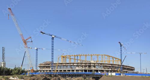 Spoed Foto op Canvas Stadion Строительство стадиона для чемпионата в Саранске.