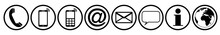 Communication Contact Us Icon Black White Symbol Vector Set Isolated / Kontakt Symbol Icon Vektor Set Schwarz Weiß Isoliert