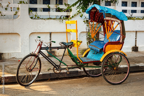 Bicycle rickshaw Tablou Canvas