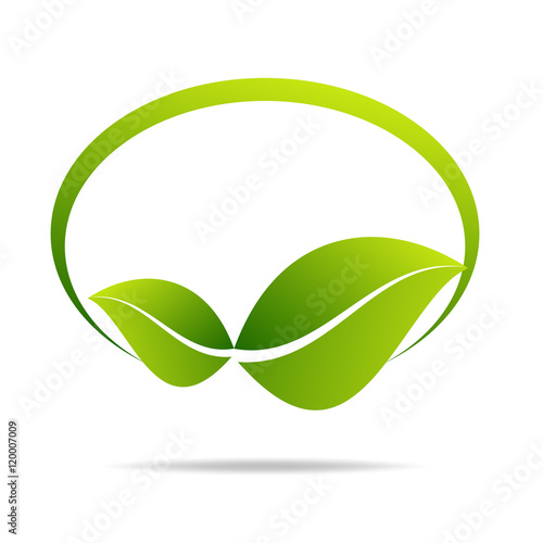 Eco Green Label Concept With Leave Buy This Stock Vector