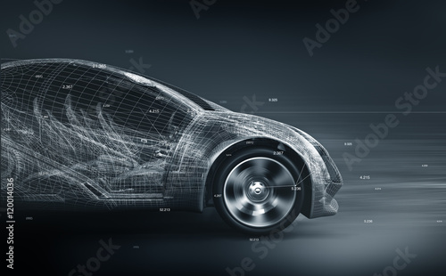 Foto  concept car wireframe