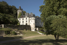 Chissey En Touraine Loire Region France - August 2016 - The French Turreted 15th Century Chateau Chissey At Chissey En Touraine Set On A Wooded Hillside