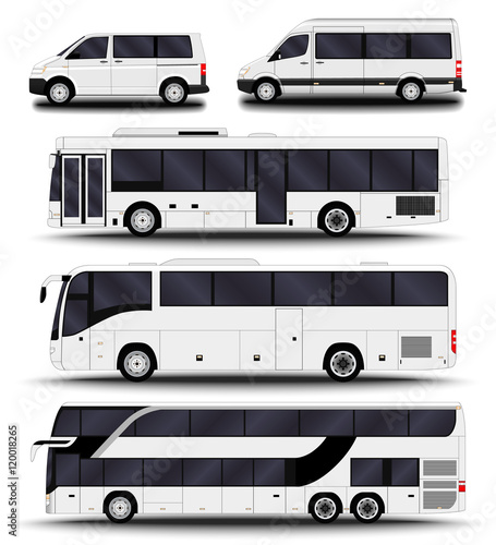 Fotografie, Tablou  Buses, vans and minivans. Big set.