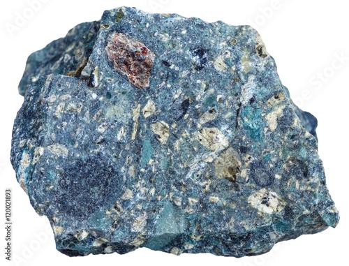 Fotografie, Obraz  Kimberlite mineral isolated on white background