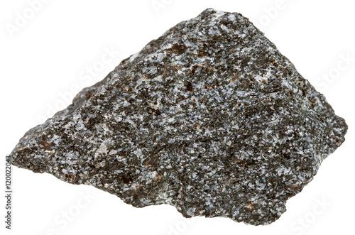 Photo nepheline syenite mineral isolated on white