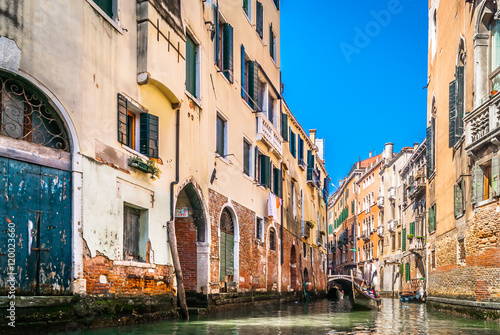 Poster  Venice city canal view