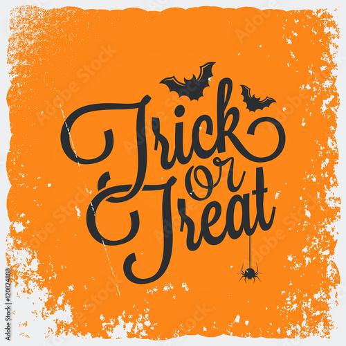 Spoed Fotobehang Halloween Trick or treat halloween lettering background