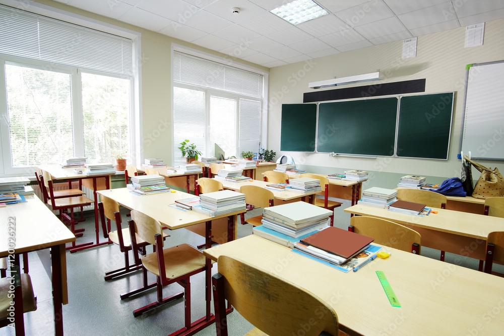 Fototapeta Interior of an empty school class