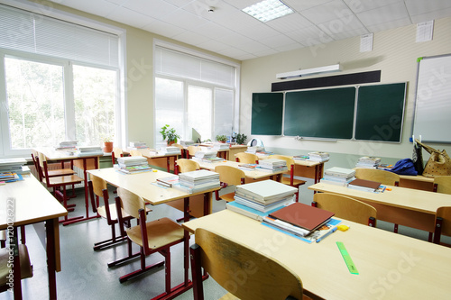 Interior of an empty school class Poster