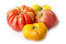 Red And Yellow Tomatoes Isolated