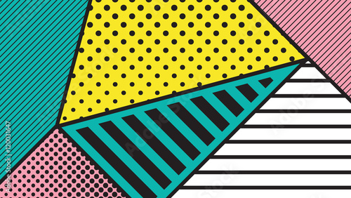black and white pop art geometric pattern фототапет