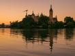 Schloss in Schwerin am Abend, Mecklenburg-Vorpommern in Deutschland