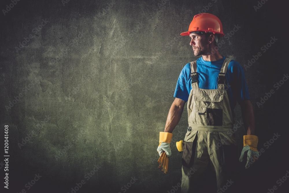 Fototapeta Construction Worker Portrait