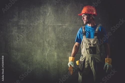 Fotografie, Obraz  Construction Worker Portrait