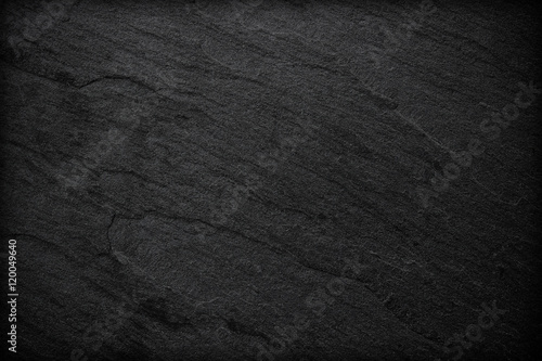 Fototapeta Dark grey black slate background or texture. obraz