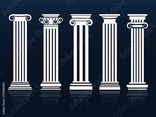 Fotografia Ancient vector columns set
