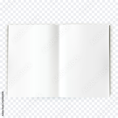 Obraz Vector open blank magazine spread - fototapety do salonu