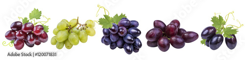 Foto  Collection of grapes isolated on white