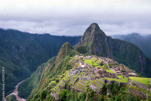 Spoed Foto op Canvas Zuid-Amerika land Machu Picchu the Lost Incan City and a UNESCO World Heritage Sit