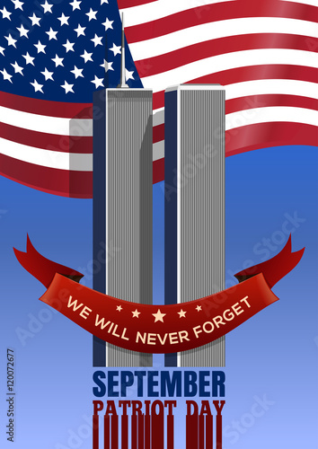 Fotografia  Patriot Day background