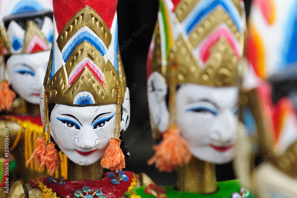 Fotografie, Obraz  Indonesia, Bali, Traditional puppet