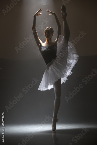 Ballerina in the white tutu Wallpaper Mural