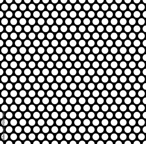Fotografie, Tablou Grating pattern with grid, mesh of circles. Repeatable.
