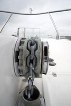 Dettaglio Di Un Argano In Uno Yacht