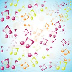 Fototapetamulticolor 3D music background