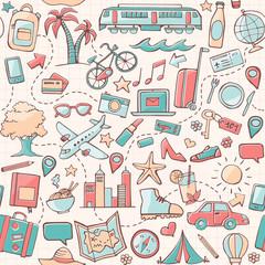 Tapeta Travel seamless pattern
