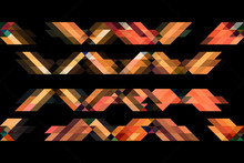 Yellow And Orange Tone Triangles On Isolated Black Background