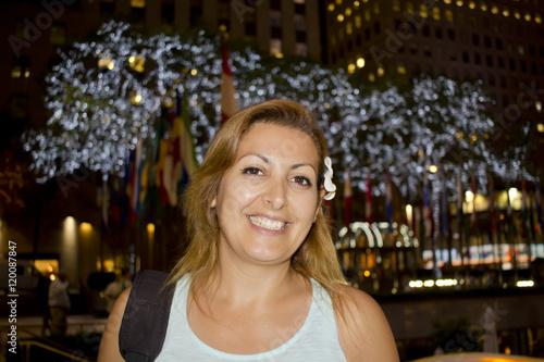 Happy woman in Newyork