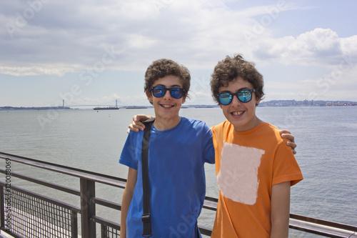 Happy twins in Newyork,USA
