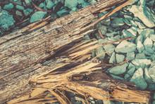 Broken Wood Lumber With Sharp ...